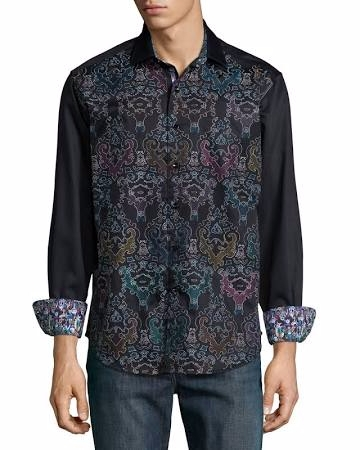 Printed Long-Sleeve Shirt